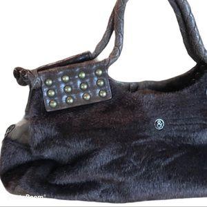 MATT & NAT faux fur vegan leather purse handbag